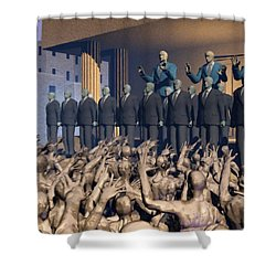 The Great Mud Revolt Shower Curtain