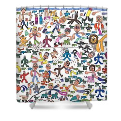 The Great Muppet Escape Shower Curtain