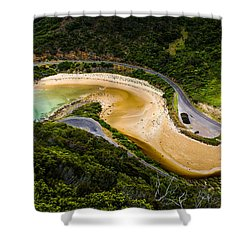 The Great Ocean Road Shower Curtain by Max Serjeant
