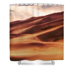 The Great Sand Dunes Of Colorado - Landscape - Sunset Shower Curtain by Jason Politte