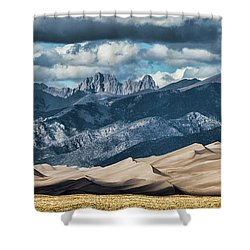 The Great Sand Dunes Panorama Shower Curtain