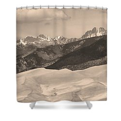 The Great Sand Dunes Sepia Print 45 Shower Curtain by James BO  Insogna