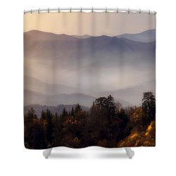 Shower Curtain featuring the photograph The Great Smoky Mountains by Ellen Heaverlo