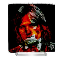 Shower Curtain featuring the mixed media The Great Tom Petty by Marvin Blaine
