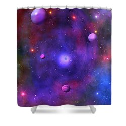 Shower Curtain featuring the digital art The Great Unknown by Bernd Hau