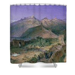 The Great Wall Of China Shower Curtain by William Simpson