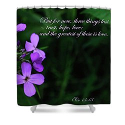 Shower Curtain featuring the photograph The Greatest Is Love by Tikvah's Hope