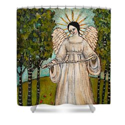 The Greatest Of These Is Love Shower Curtain by Jane Spakowsky
