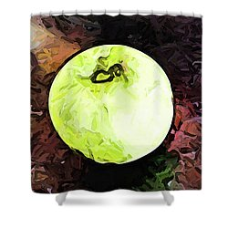 The Green Apple In The Bright Light Shower Curtain
