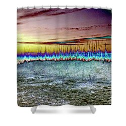 The Green Flash Shower Curtain