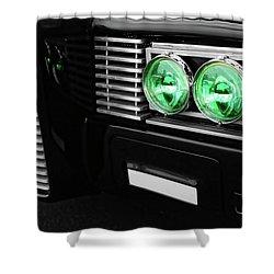 The Green Hornet Black Beauty Clone Car Shower Curtain by Gordon Dean II