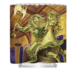 The Green Knight Shower Curtain by Melissa A Benson