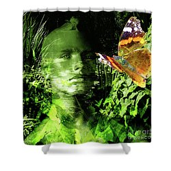 Shower Curtain featuring the photograph The Green Man by LemonArt Photography