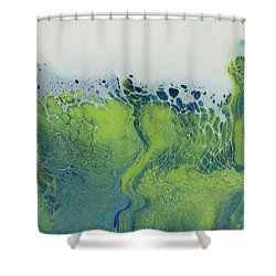 The Green Tides Shower Curtain