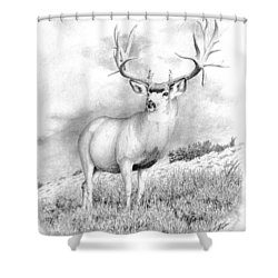 The Greenwood Buck Shower Curtain