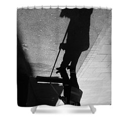 The Grim Sweeper Shower Curtain