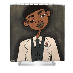 The Groom Shower Curtain