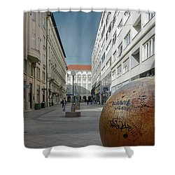 The Grounded Sun Zagreb Shower Curtain