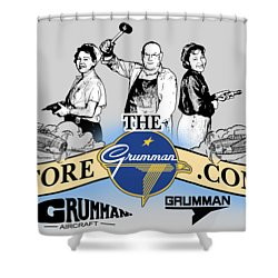 The Grumman Store Shower Curtain