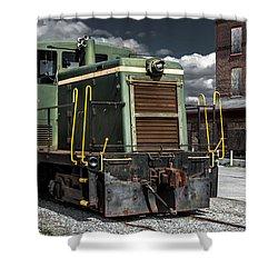 The Grunge Train Rides Again Shower Curtain by Wayne King