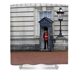 The Guard At Buckingham Palace Shower Curtain
