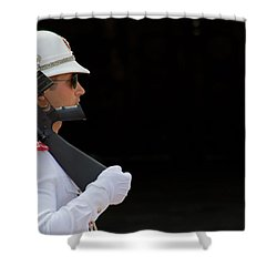 The Guard Shower Curtain by Keith Armstrong