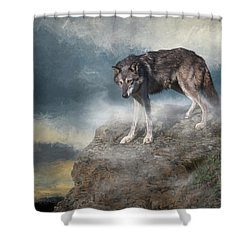 Shower Curtain featuring the digital art The Guardian by Nicole Wilde