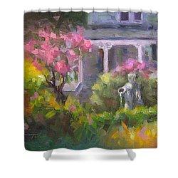 The Guardian - Plein Air Lilac Garden Shower Curtain