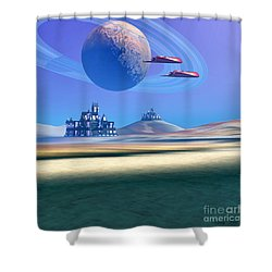 The Guardians Shower Curtain by Corey Ford