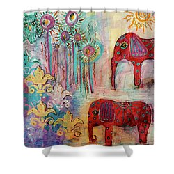 The Guardians Of Night And Day Shower Curtain by Mimulux patricia no No