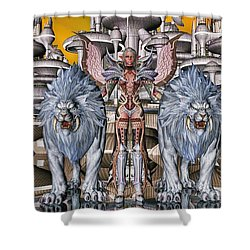 The Guardians Of The City Shower Curtain
