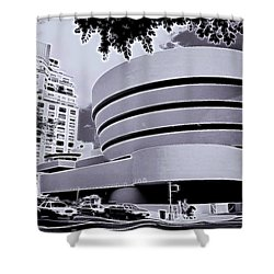 The Guggenheim Black And White Shower Curtain