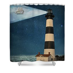 Shower Curtain featuring the photograph The Guiding Light by Juli Scalzi