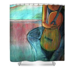 The Guitarist Shower Curtain