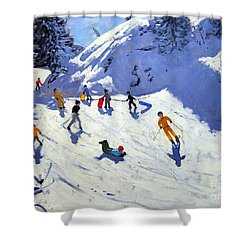 The Gully Shower Curtain by Andrew Macara