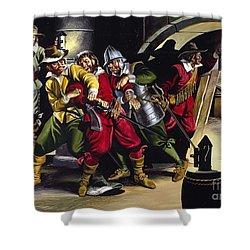 The Gunpowder Plot Shower Curtain by Ron Embleton
