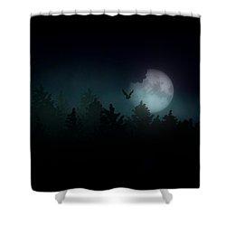 The Hallowed Moon Shower Curtain