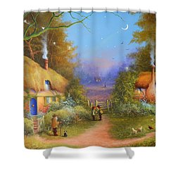 The Hamlet Of Gnarl Mid Summers Eve Shower Curtain