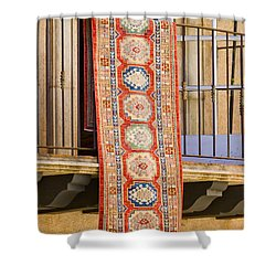 Shower Curtain featuring the photograph The Hanging Carpet Of Sedona by Chris Dutton