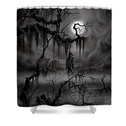 The Hangman Shower Curtain by James Christopher Hill