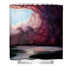 Shower Curtain featuring the painting The Hansbach by Albert Puskaric