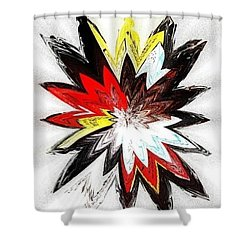 The Happy Asteroids Shower Curtain