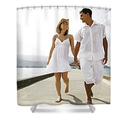 The Happy Couple Shower Curtain by Kicka Witte - Printscapes