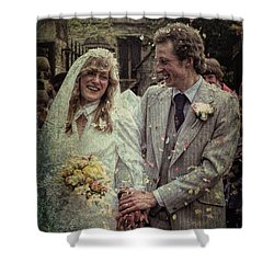 The Happy Couple Shower Curtain by Ron Harpham