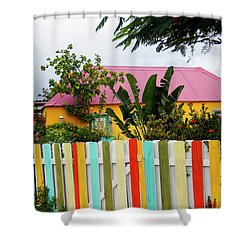 Shower Curtain featuring the photograph The Happy House, Island Of Curacao by Kurt Van Wagner