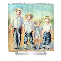 The Happy Wranglers Shower Curtain