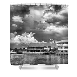 Shower Curtain featuring the photograph The Harbor by Howard Salmon