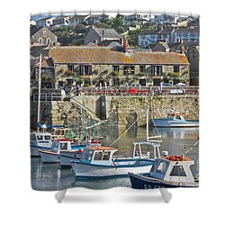 The Harbour Inn Porthleven Shower Curtain