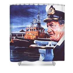 The Harbourmaster Shower Curtain by Tim Johnson