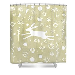 The Hare In The Meadow Shower Curtain by Nic Squirrell